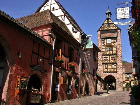 Làng Riquewihr, Haut-Rhin, Alsace