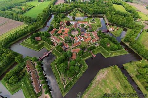 Pháo đài Bourtange, Groningen, Hà Lan.