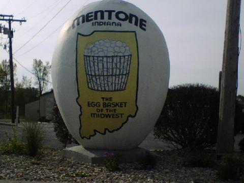 Quả trứng ở Mentone, Indiana