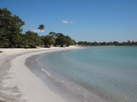 Bãi biển Playa Larga.