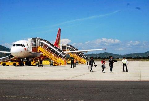 Máy bay của Vietjet Air tại sân bay Liên Khương