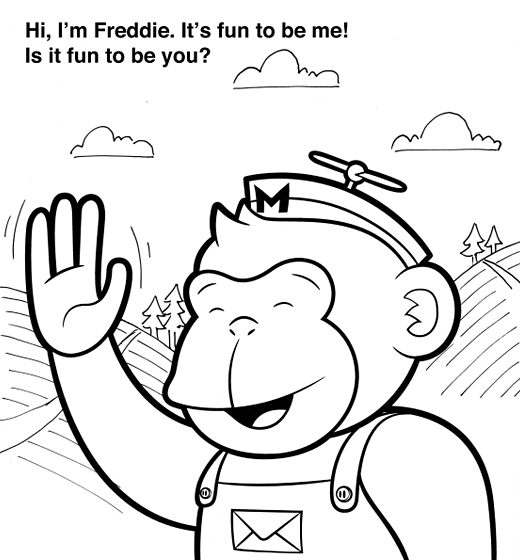 love what you do, a free colouring book from mailchimp.