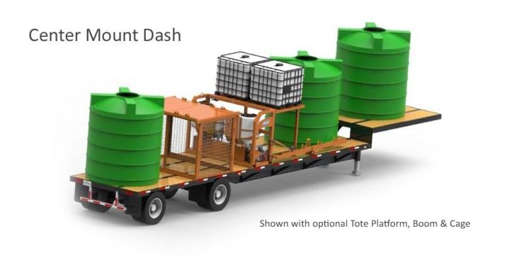 Phiber DASH 4.0 Center Mount with Optional Tote Platform, Boom, & Cage