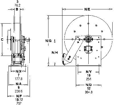 Hannay Reels N500 Series Spring Rewind Hose Reels