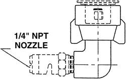 TeeJet / Spraying Systems 90 Degree QuickJet Adapter