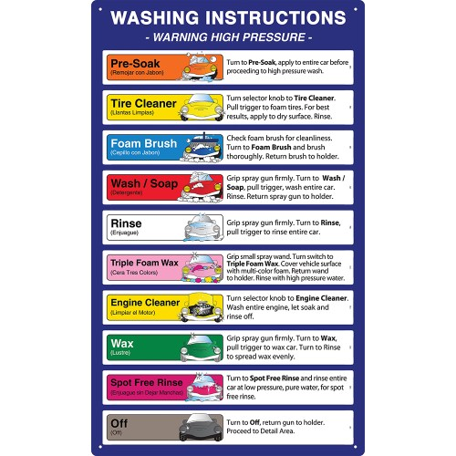 small resolution of carwash bay menu signs