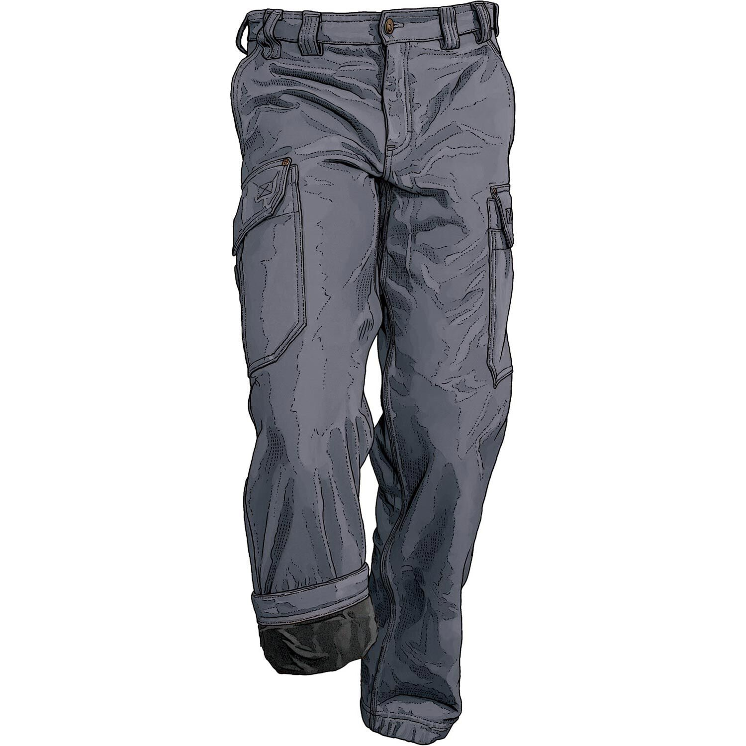 Men' Fire Hose Fleece-lined Relaxed Fit Pants Duluth
