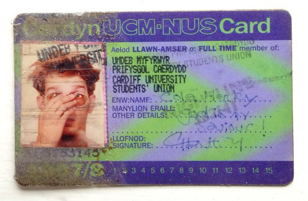 Vintage NUS card - Photo by Cole Henley