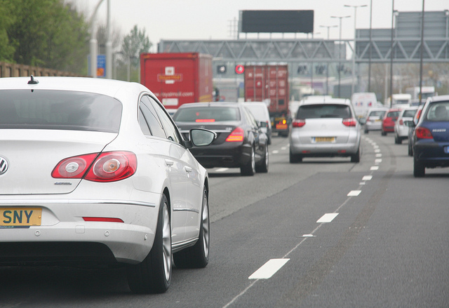 Car In Traffic - by Highways Agency