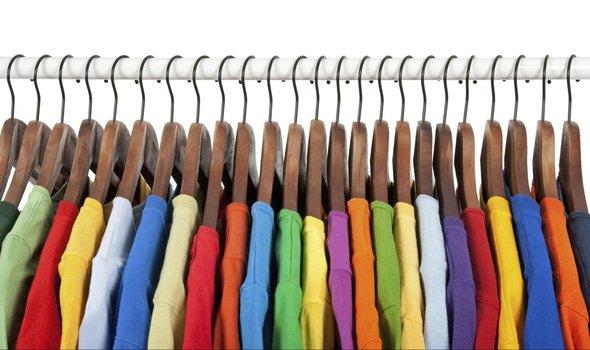Cloth Rail Of T-Shirts