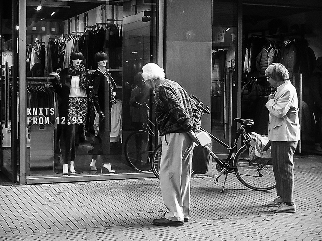 Are We Sleep Walking Into A Retirement Crisis? [Infographic] - Elderly Couple Shopping, By Sjoerd Lammer