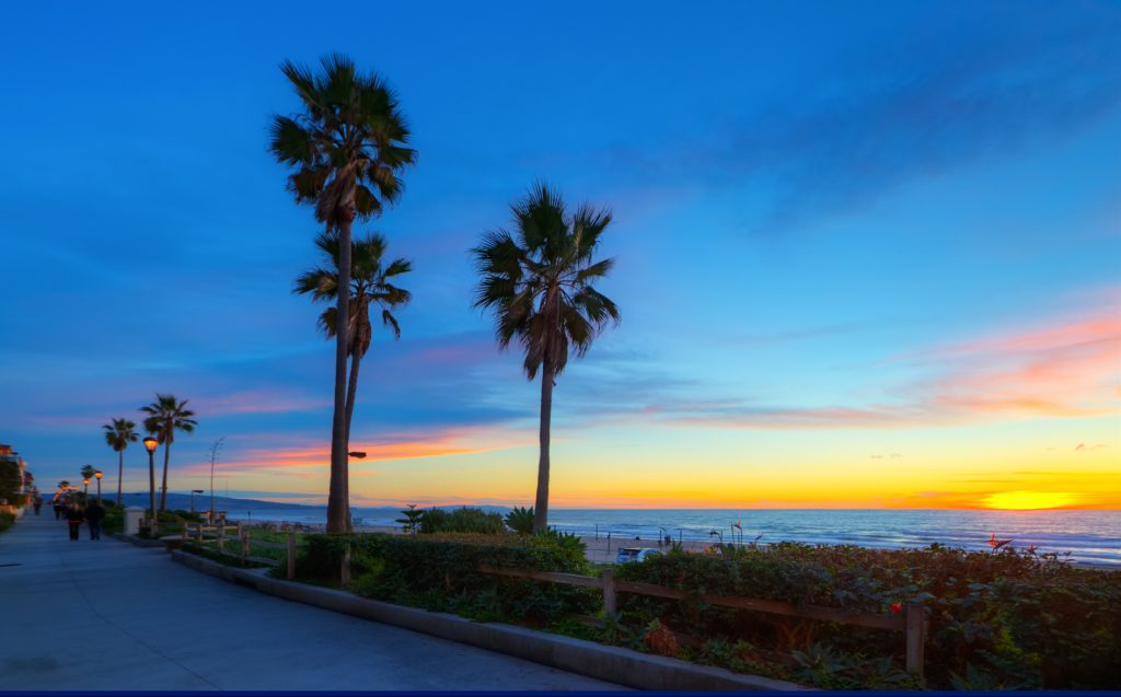 Options For Applying For A Federal Tax ID In California - A December sunset in El Porto, California