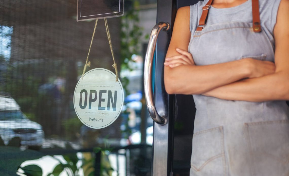 Small Business, Open Sign, Shop.