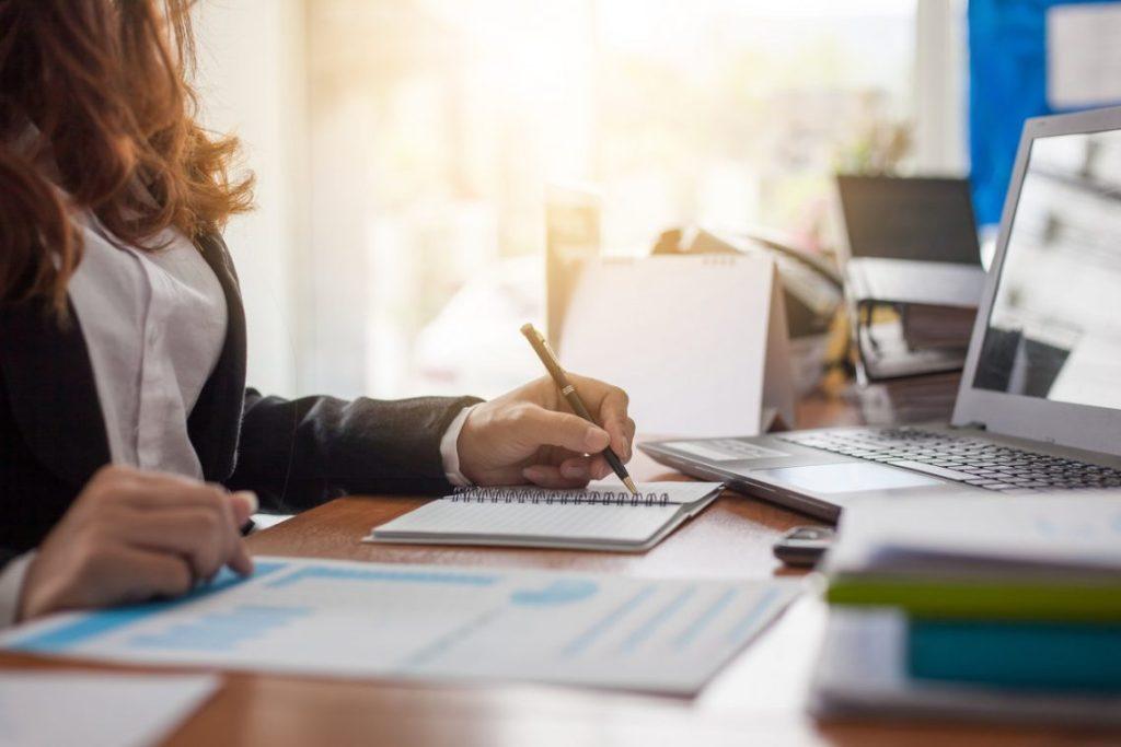 Office Women, Laptop, Reports