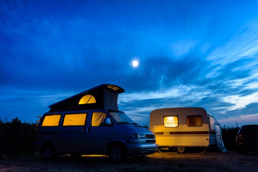 Campervan and Retro Caravan