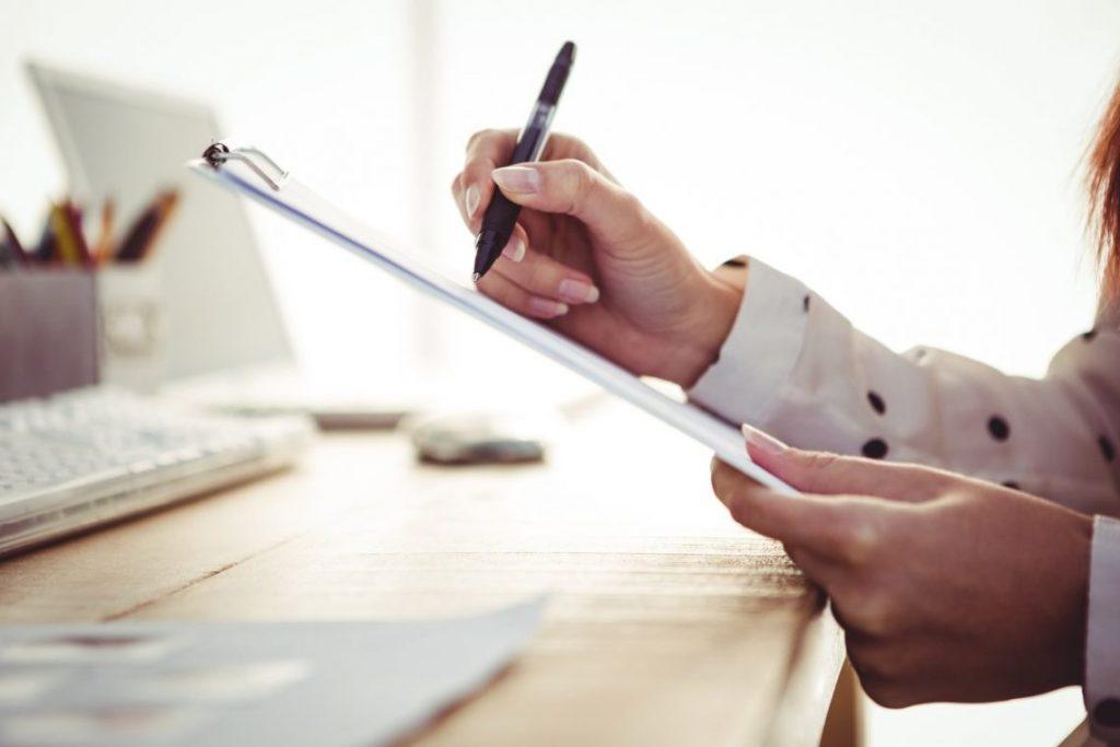 Clipboard, Pen, Computer, Organising.
