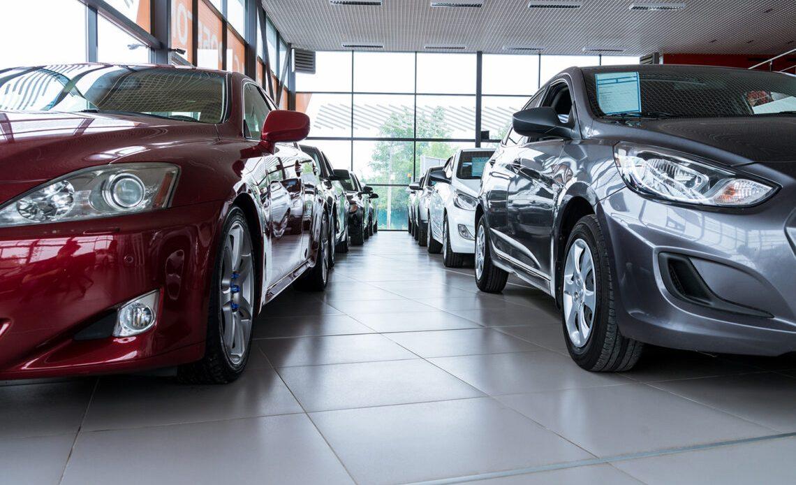Car dealership, car showroom