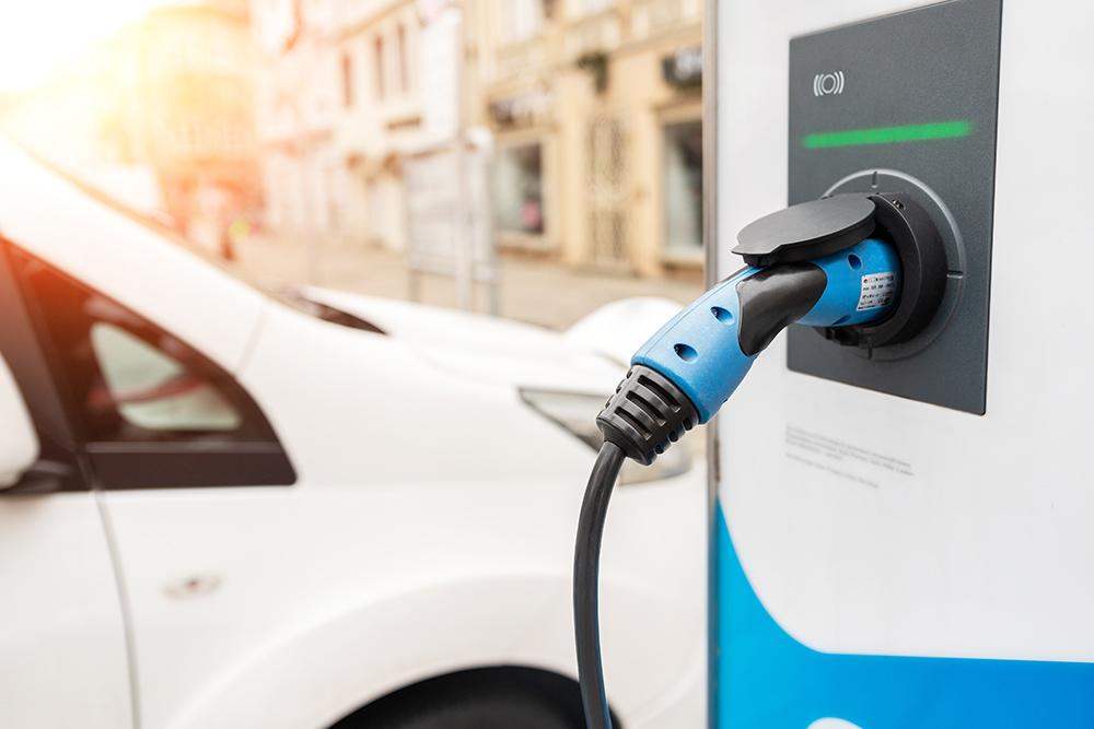 Charging electric eco van