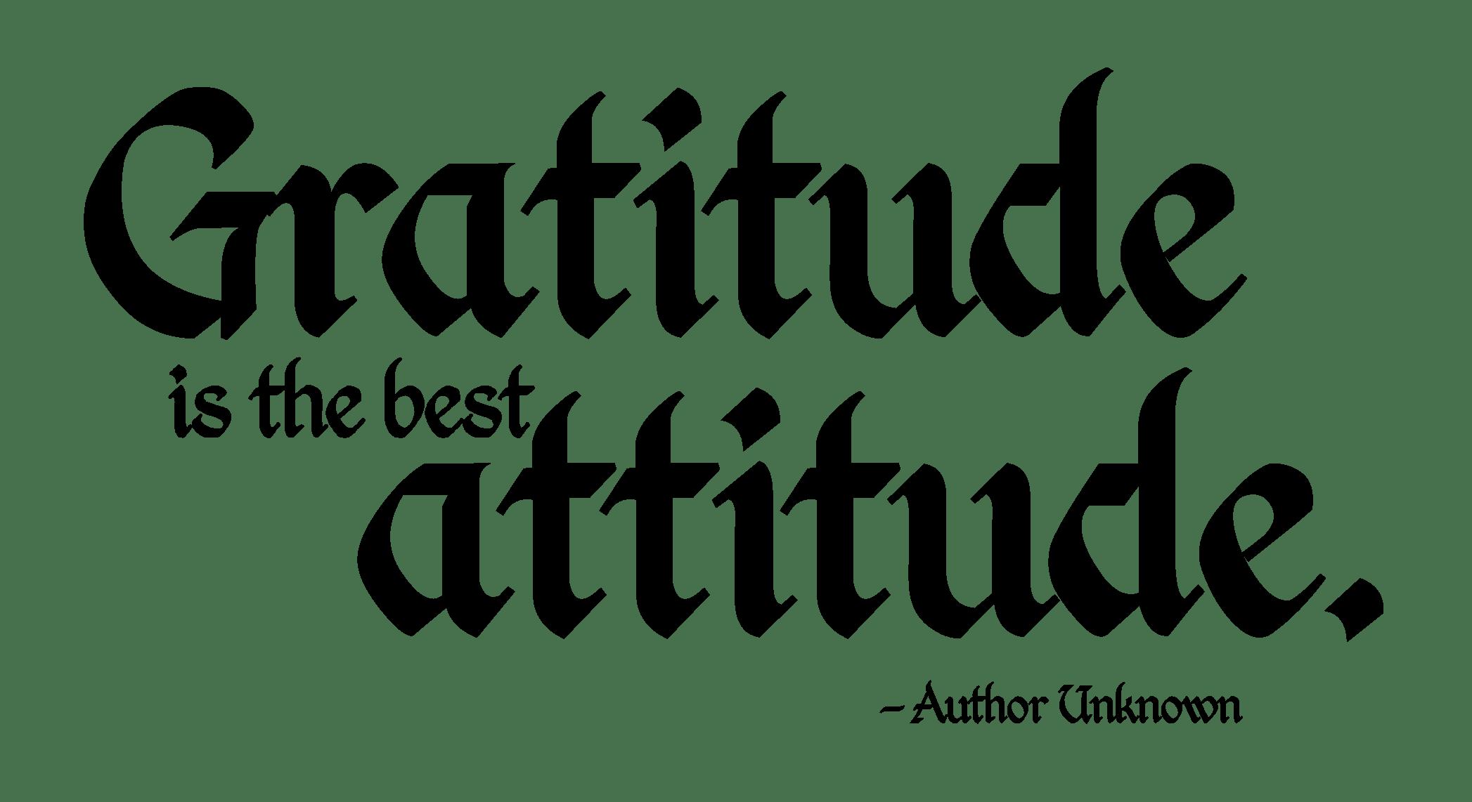 How to Adopt an Attitude of Gratitude