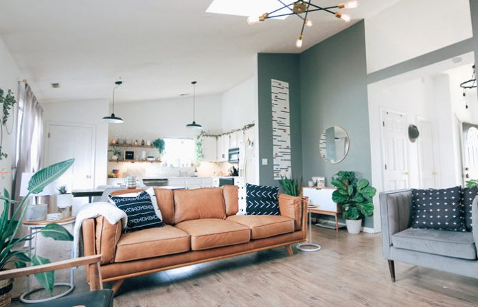 mid century modern interior design characteristics