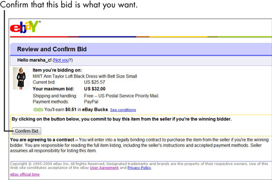 How to Make Your High Bid by Proxy in an eBay Auction