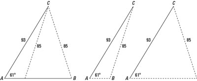 Use The Law Of Cosines For Ssa