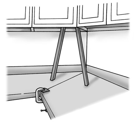 Secure countertop to cabinet