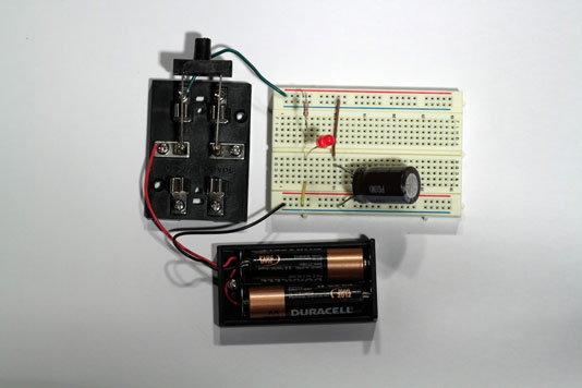 Capacitor In Dc Circuit The Circuit Is Powered By A Battery E In