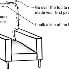 Pattern For Loose Sofa Cover Down Sectional How To Make Slipcover Patterns Dummies Image3 Jpg