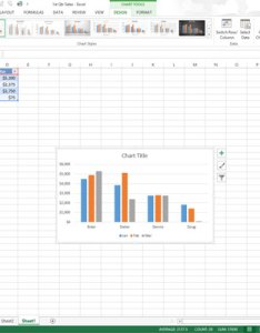 Select the chart and then click move button on design tab under tools contextual to open dialog box also how embedded charts sheets in excel dummies rh