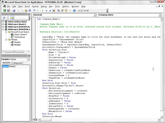 How to Add Dialog Boxes to Excel Macros with Visual Basic Editor ...