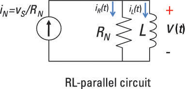Analyze a Parallel RL Circuit Using a Differential