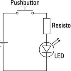 Led Light Circuit Diagram For Dummies Polaris Sportsman Wiring What You Should Know About Diagrams Arduinos The First Thing May Notice Is That This Example Has No Battery Because Your Arduino A 5v Pin And Gnd These Take Place Of Positive