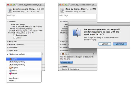 How to Open Files in with Specific Applications in OS X