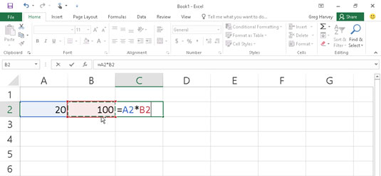 How to Manually Create Formulas in Excel 2016 - dummies