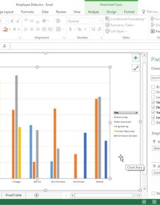Clustered column pivot chart moved to its own sheet also how create charts in excel dummies rh