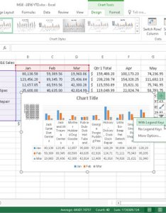 Embedded clustered column chart with data table legend keys also how to customize elements in excel dummies rh