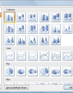 The insert chart dialog box provides access to all available types and subtypes also choosing right type in excel dummies rh