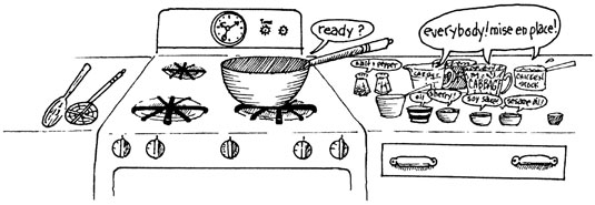 Using the Mise en Place Approach to Cooking Preparation