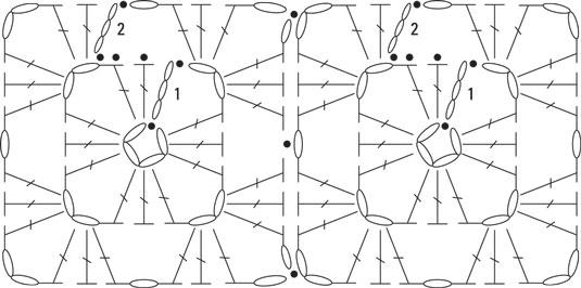 crochet granny square diagram dodge ram trailer plug wiring cuff project dummies the stitch for