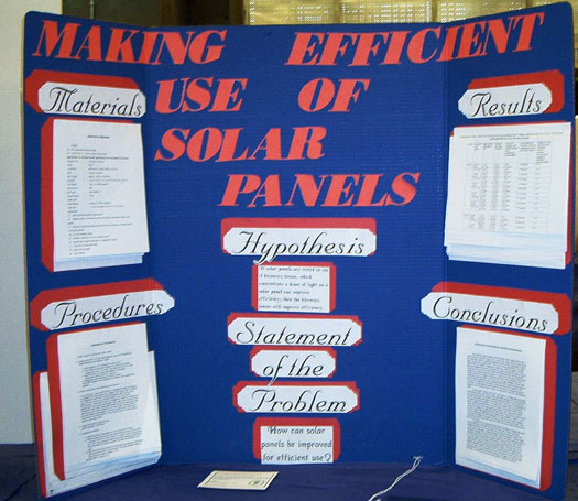 Science Fair Project Making Efficient Use Of Solar Panels