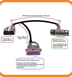 dummy obd port relocation land rover all models dummy obd obd2 port relocate wiring loom [ 1600 x 1599 Pixel ]
