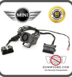 dummy obd port with powered siren mini all models  [ 1597 x 1600 Pixel ]