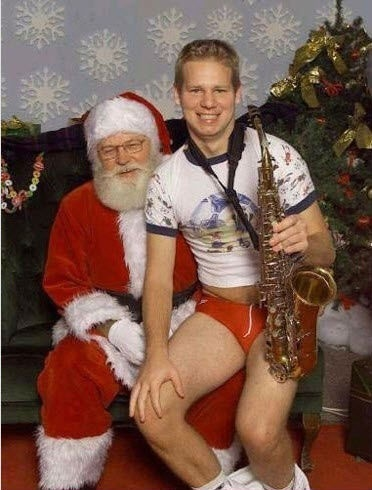 Awkward Santa photo