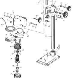 sensitive drill press replacement parts dumore series 16 sensitive drill presses [ 2402 x 3320 Pixel ]