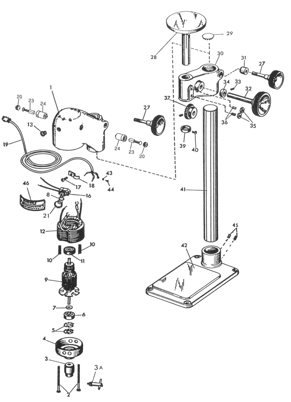medium resolution of sensitive drill press replacement parts dumore series 16 sensitive drill presses