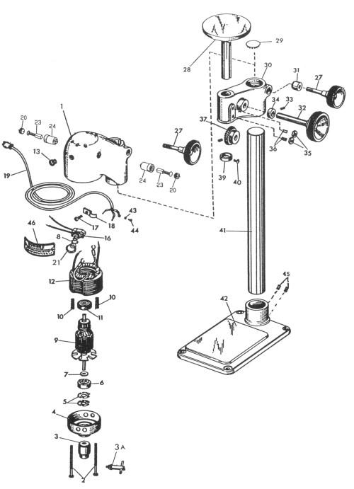 small resolution of sensitive drill press replacement parts dumore series 16 sensitive drill presses