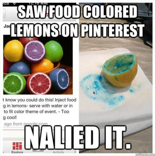Laugh a little with this pinterest fail compilation. We love looking at Pinterest fails. Thisis real life people. Life is pain and the road is filled with good intentions.