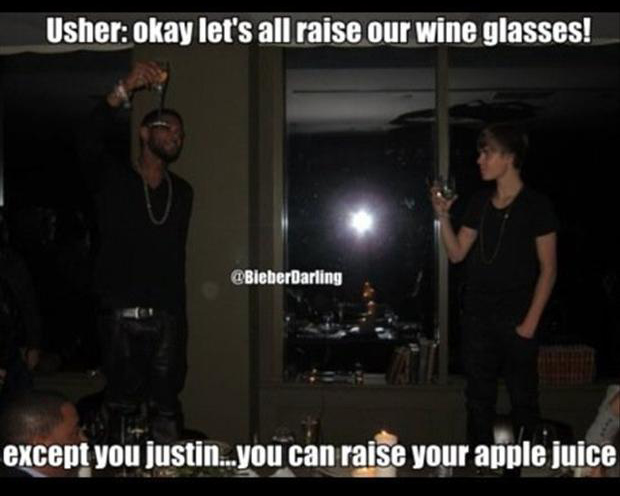 a funny justin bieber pictures, wine glasses