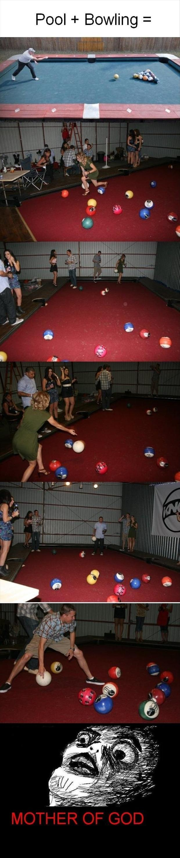 bowling pool, funny pictures